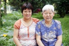 Madre-figlia cinese Fotografia Stock Libera da Diritti