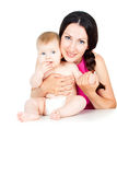 Madre hermosa con el bebé fotografía de archivo libre de regalías