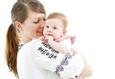 Mamá con el bebé Foto de archivo libre de regalías