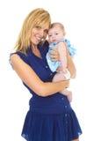 Madre joven orgullosa feliz con el bebé imágenes de archivo libres de regalías