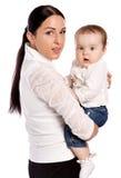 Madre joven y su bebé Fotografía de archivo libre de regalías