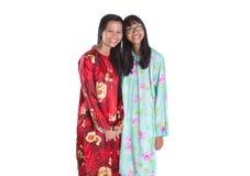 Madre malaya asiática e hija adolescente II Imagen de archivo