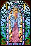 Madre Maria con Jesus Christ illustrazione di stock