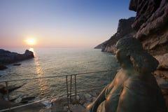 Madre Natura al tramonto a Portovenere Stock Photo