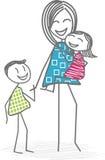 Madre o una niñera con los niños Imagen de archivo