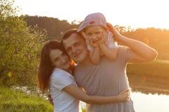 Madre, padre e hijo Foto de archivo libre de regalías