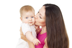 Madre que celebra a un bebé fotografía de archivo libre de regalías