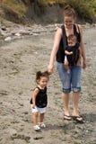 Madre soltera de dos Imagen de archivo
