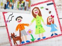 Madre soltera y niños Fotografía de archivo libre de regalías