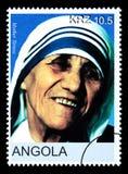 Madre Teresa Postage Stamp fotografía de archivo