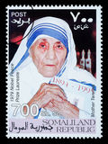 Madre Teresa Postage Stamp foto de archivo libre de regalías