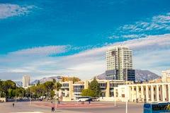 Madre Teresa Square en Tirana Foto de archivo libre de regalías