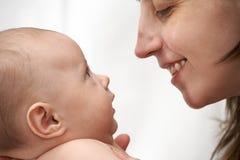 Madre y bebé. Foto de archivo