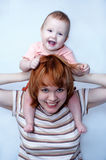 Madre y bebé Foto de archivo libre de regalías