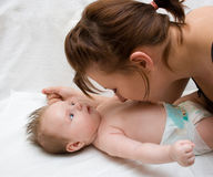 Madre y bebé Imágenes de archivo libres de regalías
