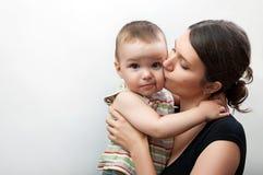 Madre y bebé del retrato Imagen de archivo libre de regalías