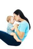 Madre y bebé felices Imagenes de archivo