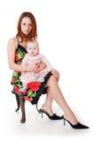 Madre y bebé jovenes Foto de archivo
