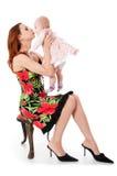 Madre y bebé jovenes Imagenes de archivo