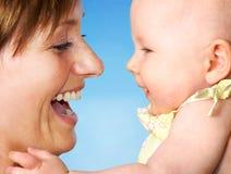 Madre y bebé Imagen de archivo libre de regalías