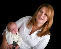 Madre y bebé recién nacido Fotografía de archivo