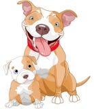 Madre y cachorro del pitbull libre illustration