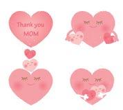 Madre y corazón de los niños Fotos de archivo libres de regalías