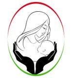 Madre y cuidado de niños Imagenes de archivo
