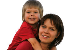Madre y el hijo foto de archivo