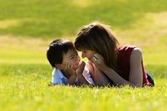 Madre y hijo Imágenes de archivo libres de regalías
