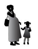 Madre y niño ilustración del vector
