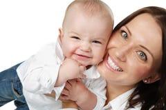 Madre y niño. Imagen de archivo libre de regalías