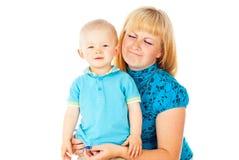 Madre y niño del retrato imagen de archivo