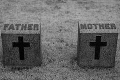 Madre y padre Headstone fotografía de archivo