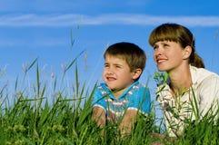 Madre y su hijo fotos de archivo libres de regalías