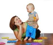 Madre y su niño Fotografía de archivo