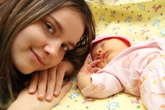Madre y su niño Imagen de archivo libre de regalías