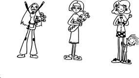 madres stock de ilustración