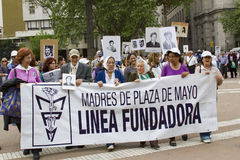 Madres de Λα Plaza de Mayo - μητέρες Mayo της πλατείας Στοκ Φωτογραφίες