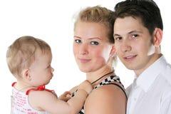 Madres hija y padre Imagen de archivo