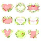 Madres y St Valentine Day Greeting Cards Collection Imagen de archivo libre de regalías