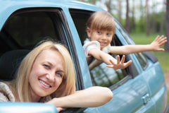 Madri e figlia Fotografie Stock