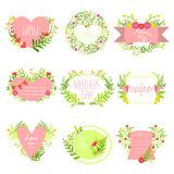 Madri e st Valentine Day Greeting Cards Collection illustrazione di stock