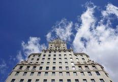 Madri Edificio Espania Skyscreaper Imagens de Stock
