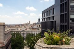 2017 05 31, Madri, Espanha Arquitetura de Spain Arquitetura do Madri fotografia de stock