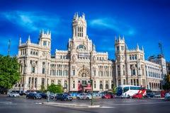 Madri, Espanha: Cybele Palace, câmara municipal imagens de stock