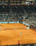 Madri, Espanha; 11 pode 2019: O centro do tênis de Caja Magica durante tênis 2019 imperativo aberto do ATP do Madri de Mutua o pr foto de stock