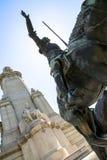 2017 01 06, Madri, Rússia Um monumento a Miguel de Cervantes no Madri, Espanha Vistas do Madri foto de stock royalty free