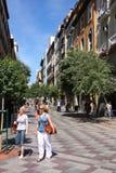 Madri - rua de Montera Imagens de Stock