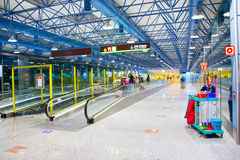Madrid–Barajas Airport cleaning service Stock Image